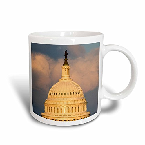 3dRose Dome of The U.S. Capitol Building, Washington Dc - David R. Frazier, Ceramic Mug, 15-Oz - Washington Dc Capitol Building