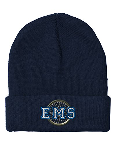 Ems Bike Patrol (Ems Bike Patrol Police Embroidery Embroidered Beanie Skully Hat Cap Navy)