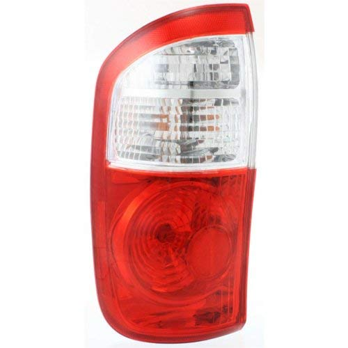Tail Light for TOYOTA TUNDRA 2004-2006 LH Assembly Clear/Red Lens with Standard Bed Double Cab ()
