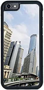 ديكالاك كفر حماية لهاتف ايفون 8، بتصميم مبنى المكاتب كخلفية ، معلم شنغهاي في الصين