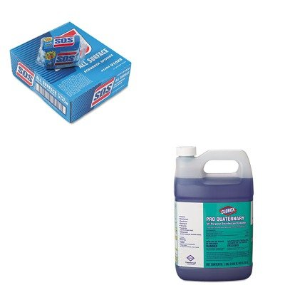 KITCOX30423COX91028CT - Value Kit - Clorox Pro Quaternary All-Purpose Disinfectant Cleaner (COX30423) and Clorox All-Surface Scrubbing Sponge (COX91028CT)