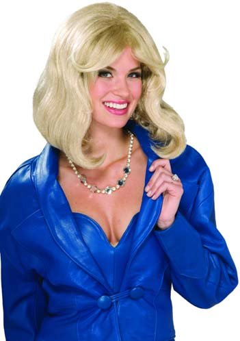 Hollywood Actress Fancy Dress Costumes (Forum Novelties Women's 80's Soap Star Wig, Blonde, One Size)