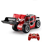 Mopoq 1:20 Large Remote-Controlled Forklift Bulldozer Loader Boy Electric Wireless Simulation Engineering Model Children's Toys