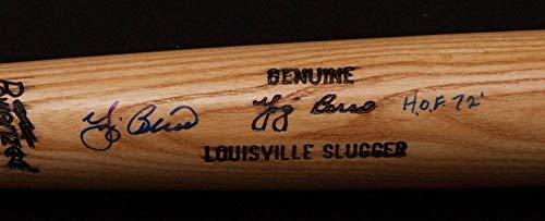 Yogi Berra Autographed Signed Louisville Slugger H&B Game Model Bat with Hof 72 Insc. Memorabilia PSA/DNA