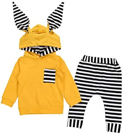 Odziezet Baby Girl Rabbit Ear Jacket Long Sleeve Button Down Ear Coat Toddler Kids Fall Winter Hoodie Outerwear
