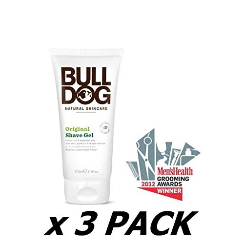 Bulldog Natural Skincare Original Shave Gel 174 ML (Pack of 3) by Bulldog Natural Skincare