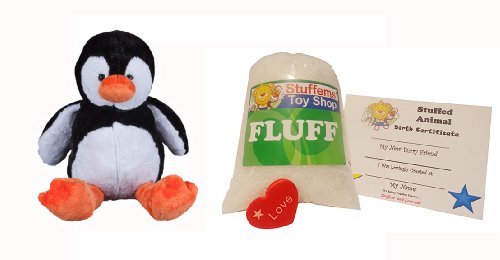 Make Your Own Stuffed Animal Mini 8 Inch Tux the Penguin Kit - No Sewing Required!