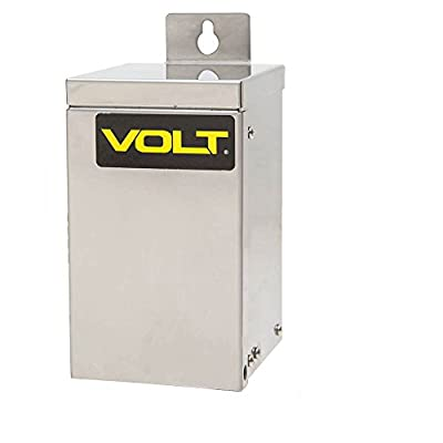VOLT 775W-1215 Landscape Transformer, 75W, 12V to 15V Multi Tap, Toroidal Core, Stainless Steel Case, 5-1/2' Line Voltage Power Supply and Timer included