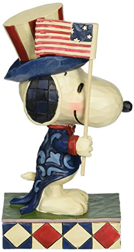 Peanuts by Jim Shore Patriotic Snoopy Stone Resin Figurine, 6
