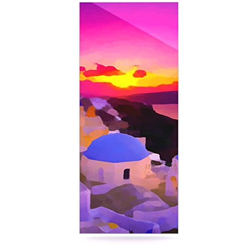 Kess InHouse Oriana Cordero My Konos Pink Sunset Luxe Rectangle Panel 24 x 36
