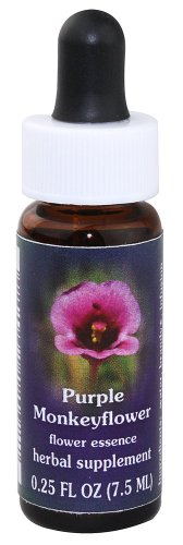 Flower Essence Services Quintessentials Supplement Dropper, Purple Monkey Flower, 0.25 Fluid (0.25 Ounce Flower Essence)