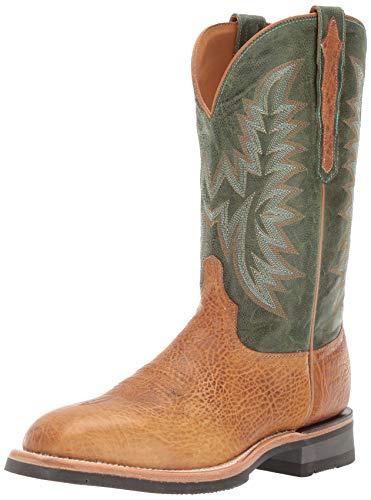 Lucchese Bootmaker Men's Rudy Western Boot Cognac/Green 10.5 2E US