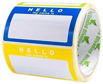 Namensschild Aufkleber Hello My Name Is Sortierte Farben 250