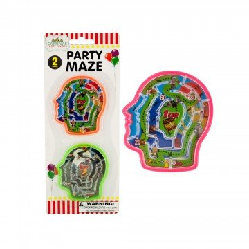 Halloween Party Brain Mazes (Pack of 12 Mazes) Halloween Party Favors, Trick or Treat Fun Toys