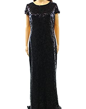 Calvin Klein Sequin Embellished Women's Ball Gown Black 12
