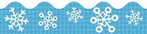 (Snowflakes Scalloped Borders)