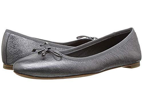 Coach Women's Flatiron Gunmetal Rock Metallic 9.5 M US (Coach Flats Shoes)