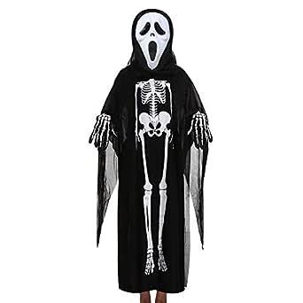 Fossen Halloween Disfraz Esqueleto para Niñas Niño 4-10 años ...