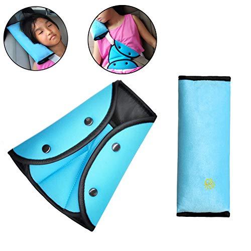 Timorn car Seat Belt Safety Adjuster, Seat Belt Shoulder Pads, car Seatbelt Pillow cover for kids