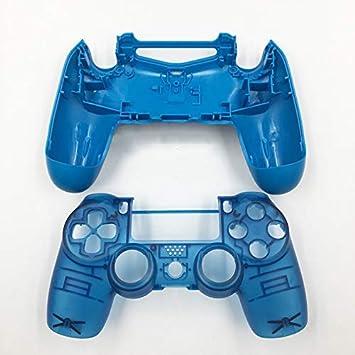 JDM-040 - Carcasa de Repuesto para Mando Playstation 4 Pro PS4 Pro, Color Azul y Blanco Clear Blue No Button: Amazon.es: Electrónica