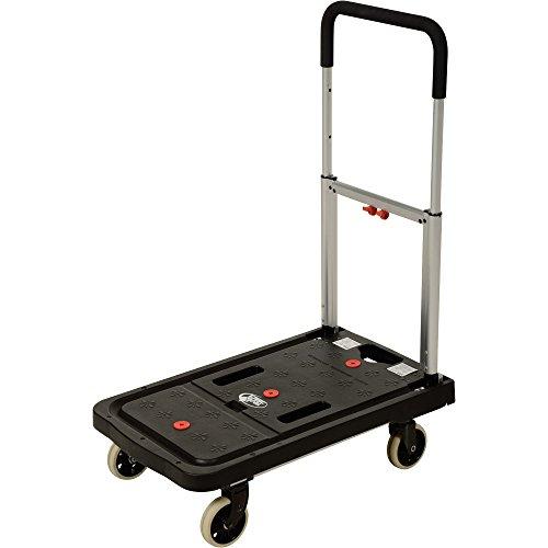 Vestil FF-FPT-1627 Fold Flat Plastic Cart, 26.75'' Length, 16.25'' Width, 36.5'' Height, 300 lb., Black by Vestil (Image #5)