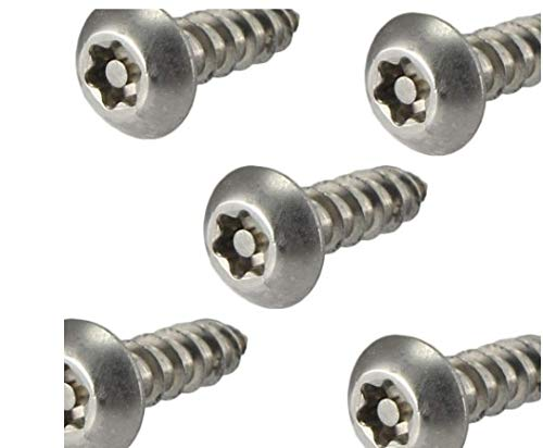 #12 x 2 Security Screws Torx Button Head Sheet Metal Stainless Steel Qty 25