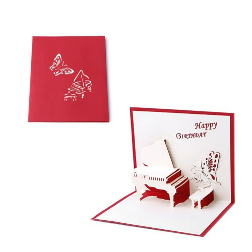 ANGELS --3D Pop Up Greeting Card Handmade Happy Birthday Merry Christmas Card Multi Language Merry Christmas