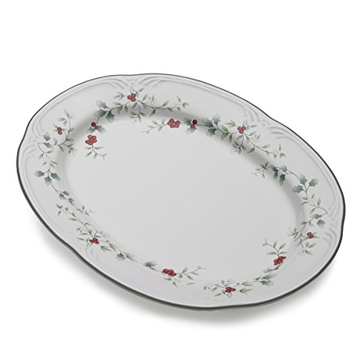 Pfaltzgraff Winterberry Stoneware Serving Platter (14-Inch) (Collection Winterberry Tableware)