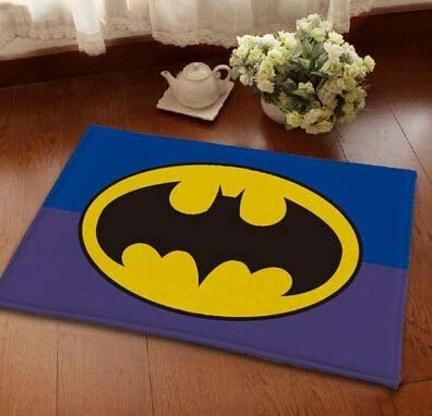 Batman Bathroom Rug | Amazon Com 23 X 15 Inch Black Batman Bath Mat Blue Superhero