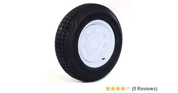 1PC Trailer Tire On Rim Tubeless ST205//75D15 F78-15 205//75-15 LRC 5 Lug Wheel White Spoke 15 LRC 5 lugs on 4.5 C tire 5x4.5 2057515 Load Range