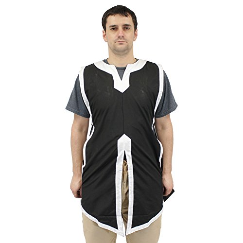 Medieval Squire Costume (Swordsaxe Larp jerkin Sleeveless Basic Medieval Tabard Renaissance Costume Tunic Shirt)