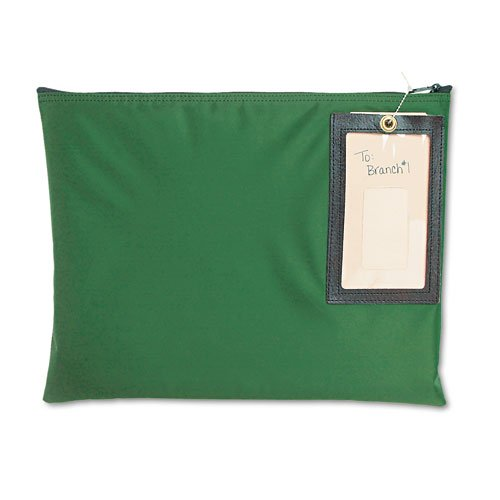 MMF Industries : Cash Transit Sack, Nylon, 14 x 11, Dark Green -:- Sold as 2 Packs of - 1 - / - Total of 2 Each