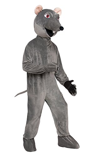 Ratatouille Halloween Costume (Forum Men's Deluxe Plush Rat Mascot Costume, Gray, STD)