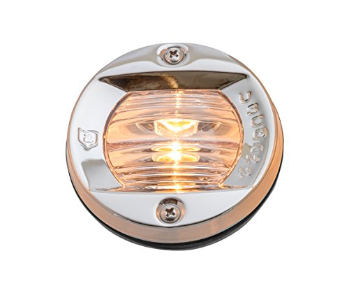 Attwood Stainless Steel Side Light - attwood 6356D7 Round Incandescent Boat Transom Light