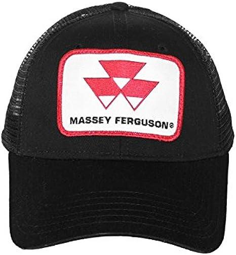 J&D Productions Negro Massey Ferguson Tractor Logo Gorro con Malla ...