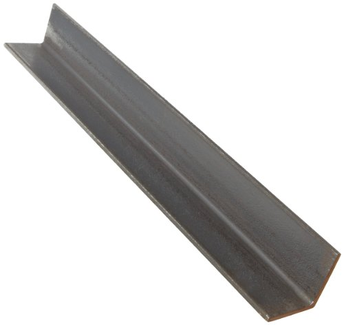 A36 Steel Angle, Unpolished (Mill) Finish, ASTM A36, Equal Leg Length, Rounded Corners, 3'' Leg Lengths, 0.1875'' Wall Thickness, 60'' Length by Small Parts
