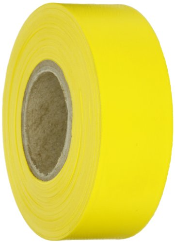 Brady Yellow Flagging Tape for Boundaries and Hazardous Areas - Non-Adhesive Tape, 1.188
