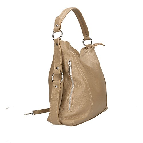 auténtico patrón in embrague Barro Borse correa Made 26x16x6 dólar pequeño Cm de cuero con bolso el Chicca Italy Mujer hombro para Cp6Pq