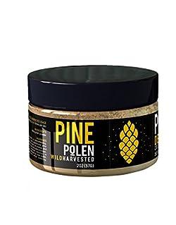 Pine Pollen Powder - Premium Wild Harvested 99% Broken Cell Wall Superfood (2oz / 57g)