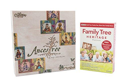 Genealogy Software / Genealogy Game Bundle Kit - Individual Software Family Tree Heritage Platinum 9 and Calliope Games Ancestree Board Game