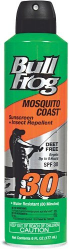 Bull Frog Mosquito Coast Spray Sunscreen with Insect Repellent, 6 Ounce 6 Oz (Pack of 12) by Bullfrog