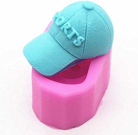 lingmoldshop gorra de béisbol Craft arte silicona jabón molde DIY ...