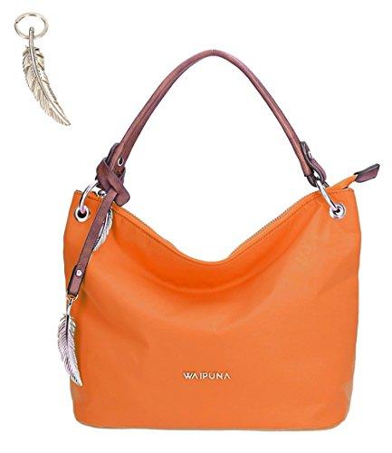 Waipuna - Cartera de mano con asa de nailon para mujer azul blue / blau orange / orange