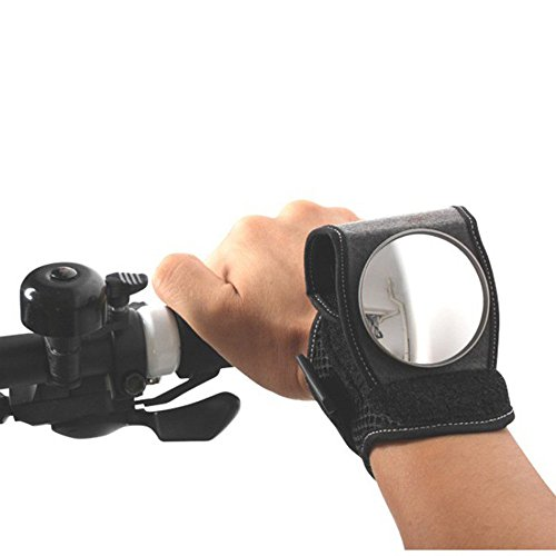 Bike Mirror,Promisen Bicycle Wrist Band Rear View Mirror Arm Wear Safety for Cyclists Mountain Road Bike Riding by Promisen (Image #1)