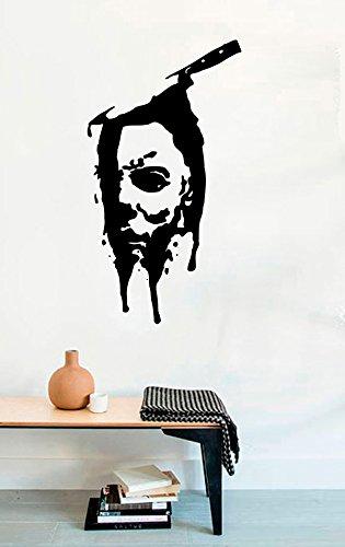 Knife Face Michael Myers Dead Horror Vinyl Wall Decals Halloween Decor Stickers Vinyl Mural MK3389 -