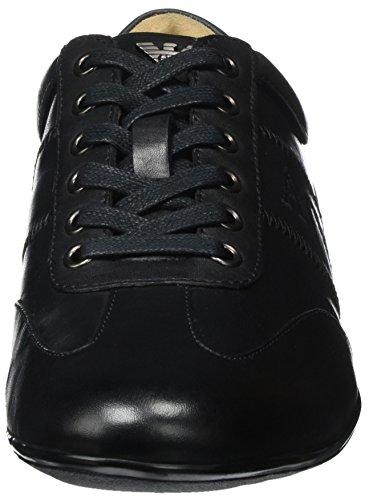 Zapatillas De Deporte Armani Jeans Hombres Leather City Black