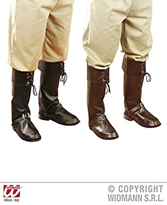 a9cf9608 PIRATE BOOT COVERS W/BUCKLE black/brown Accessory for Buccaneer ...
