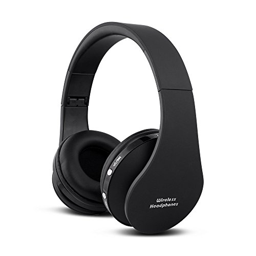 FX-Victoria Dual Mode Wireless Over-Ear Headphone On Ear Headphone Stereo Headset Lightweight Design, Compatible with iPods, iPhones, iPads, Smartphones, Tablets, PC and Laptops, Black