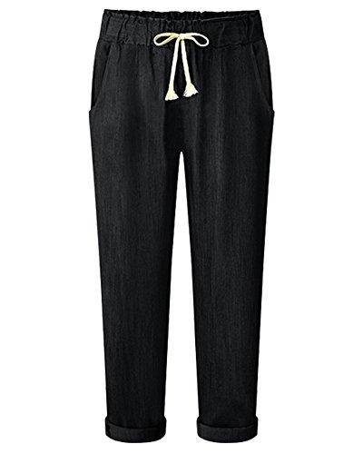 Per Signore Nero Perfetto E Lungo Casual Delle Ufficio Pantaloni Dritti Donna Pantaloni APqXx0