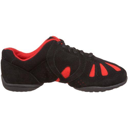 Sansha Black Red Dance Dynamo Sneaker rHpBrf
